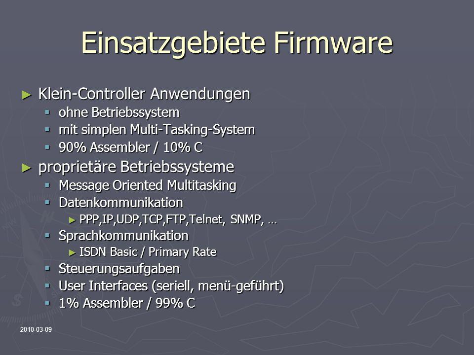 Einsatzgebiete Firmware