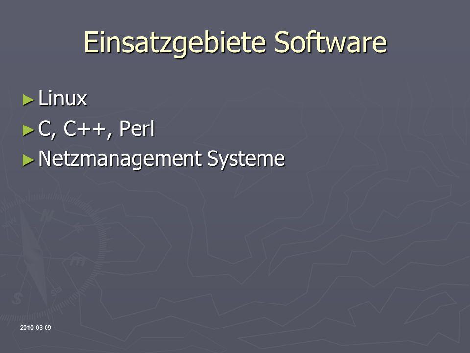 Einsatzgebiete Software