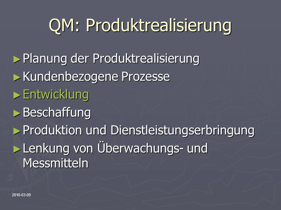 QM: Produktrealisierung
