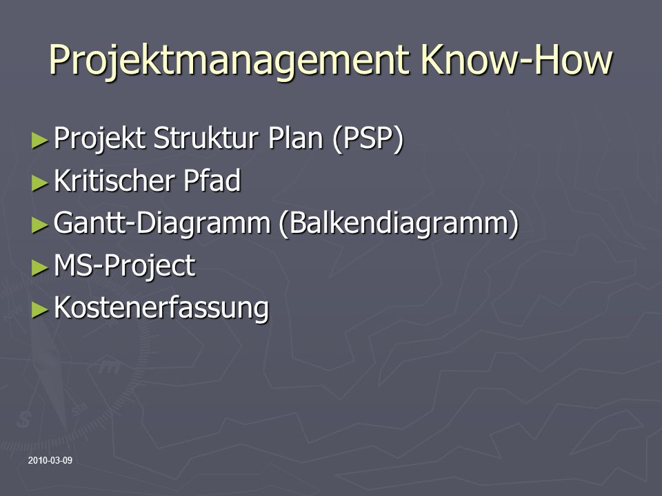 Projektmanagement Know-How