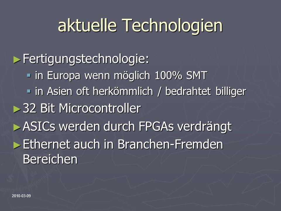 aktuelle Technologien