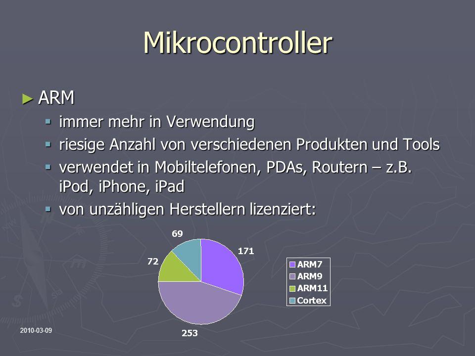 Mikrocontroller ARM immer mehr in Verwendung