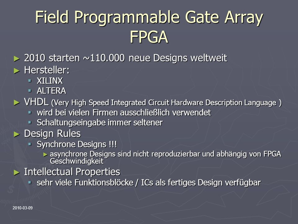 Field Programmable Gate Array FPGA