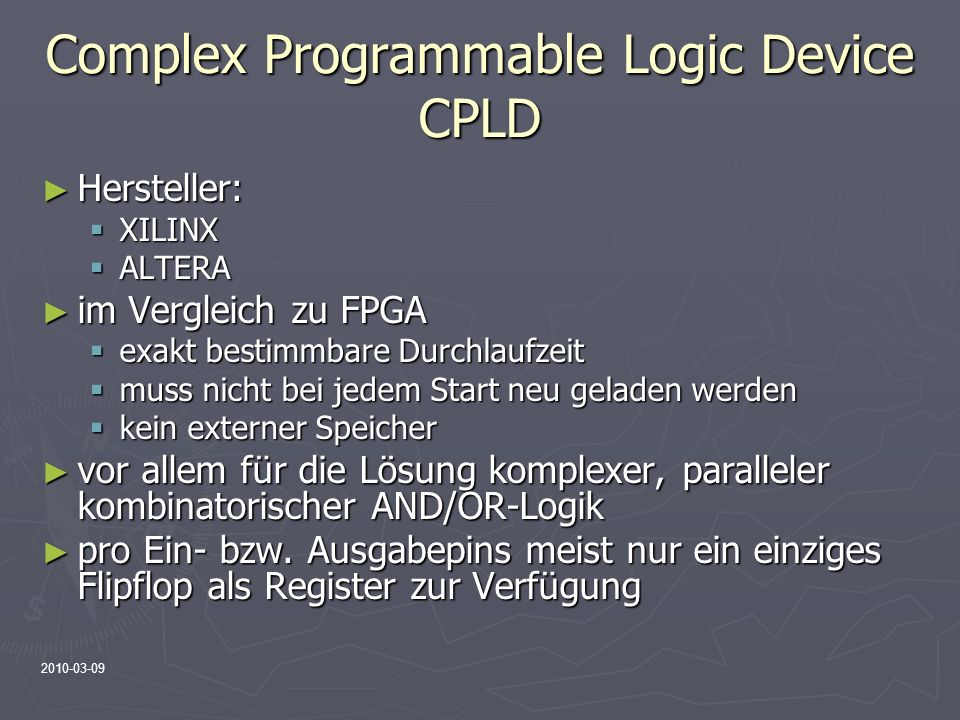 Complex Programmable Logic Device CPLD