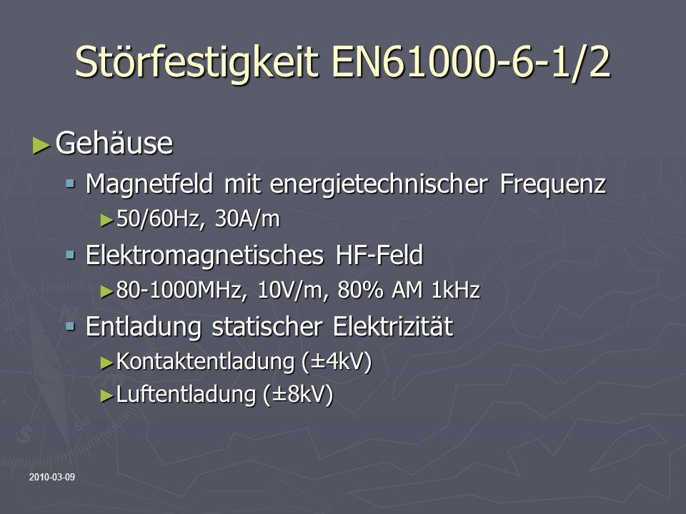 Störfestigkeit EN61000-6-1/2 Gehäuse