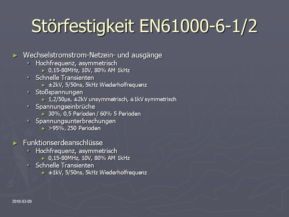 Störfestigkeit EN61000-6-1/2 Wechselstromstrom-Netzein- und ausgänge
