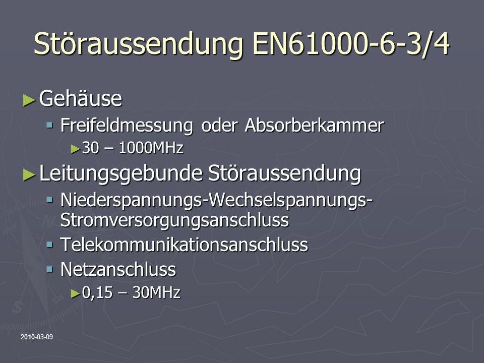 Störaussendung EN61000-6-3/4 Gehäuse Leitungsgebunde Störaussendung