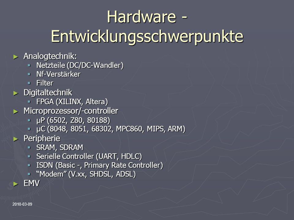 Hardware -Entwicklungsschwerpunkte
