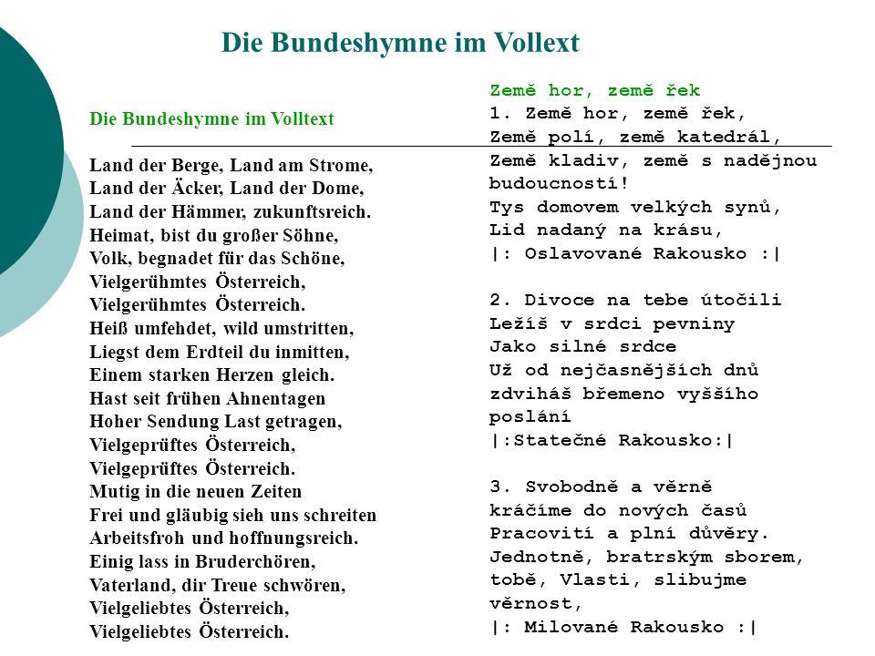 Die Bundeshymne im Vollext