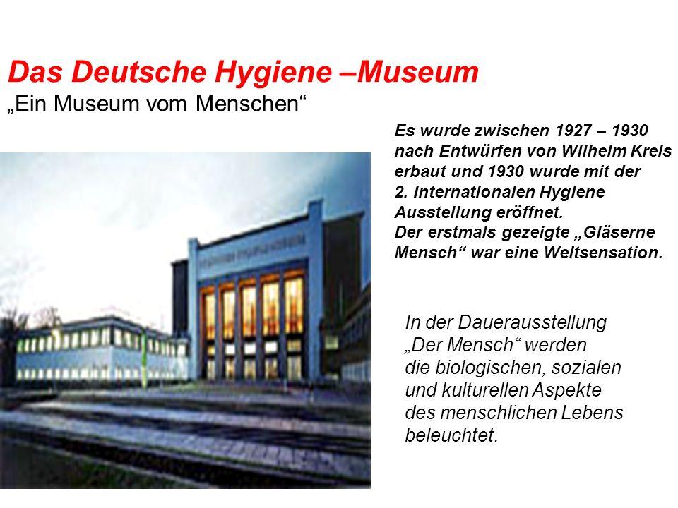 """Das Deutsche Hygiene –Museum """"Ein Museum vom Menschen"""