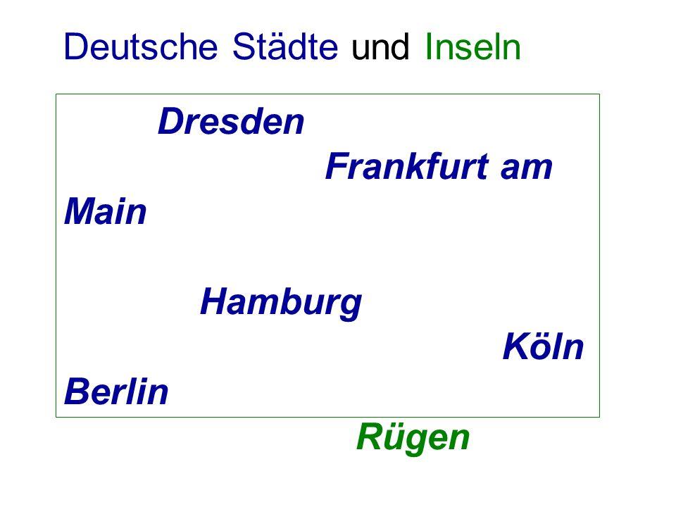 Deutsche Städte und Inseln