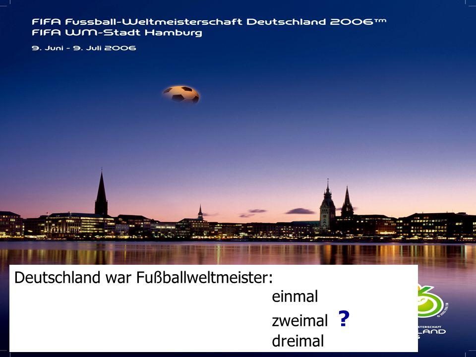 Deutschland war Fußballweltmeister:
