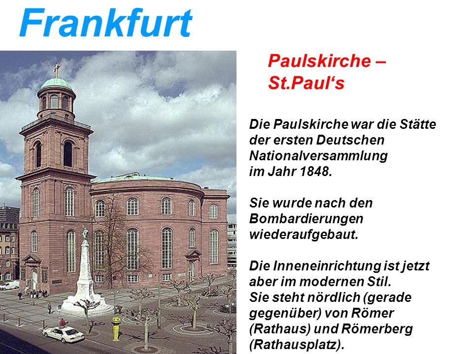 Frankfurt Paulskirche – St.Paul's