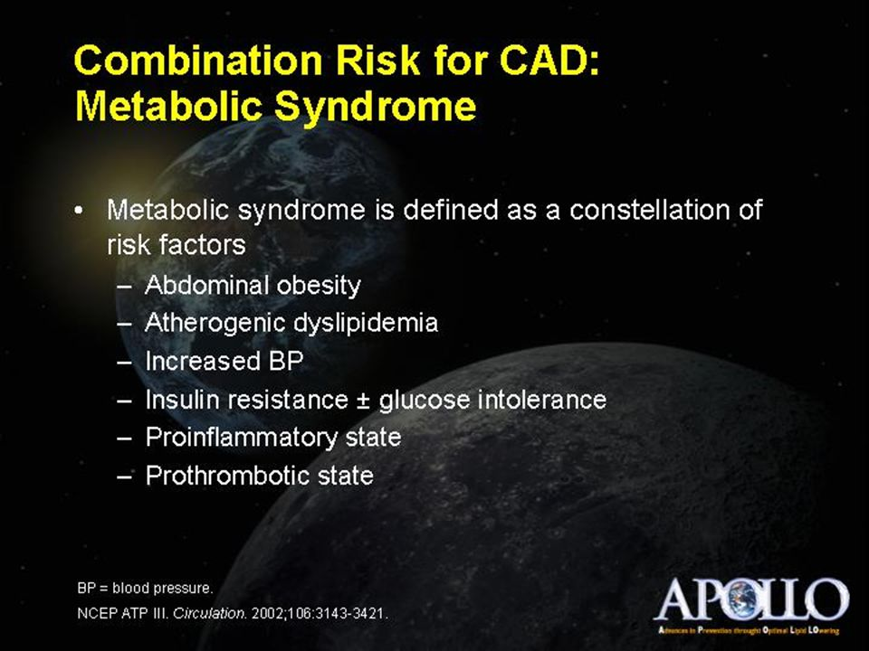 Combination Risk for CAD: Metabolic Syndrome