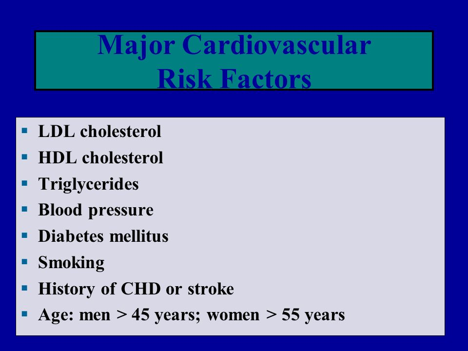 Major Cardiovascular Risk Factors