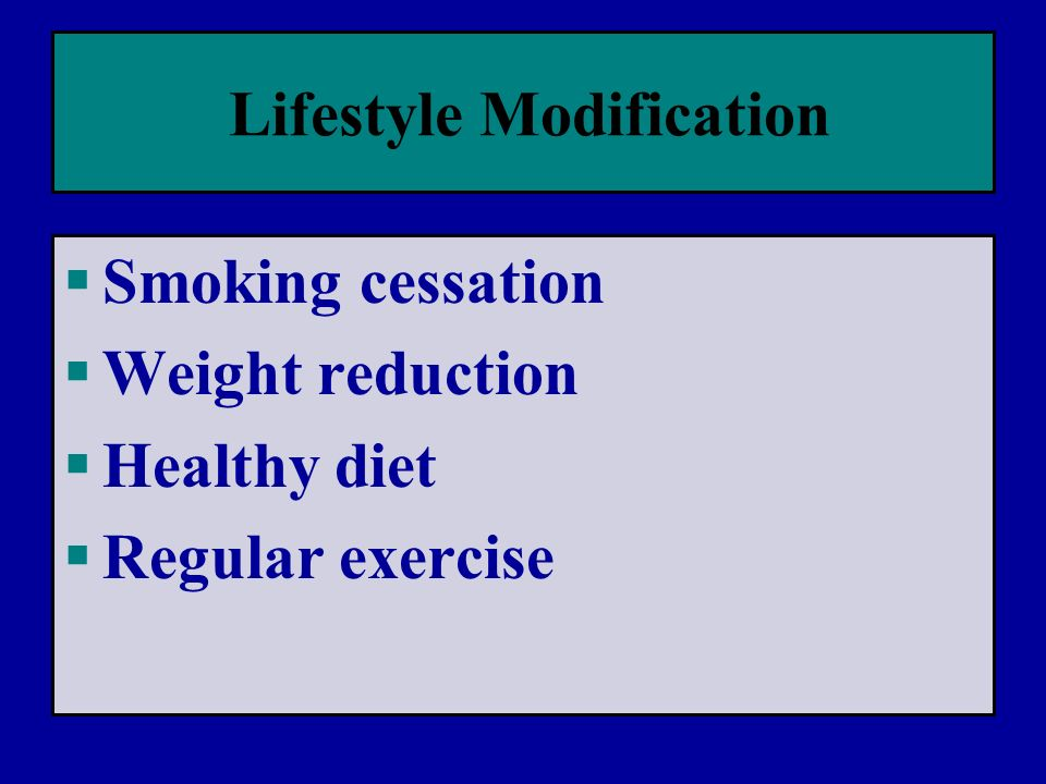 Lifestyle Modification