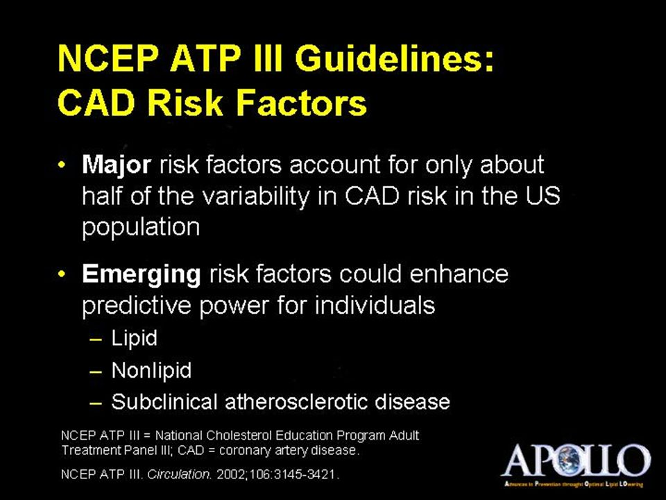 NCEP ATP III Guidelines: CAD Risk Factors
