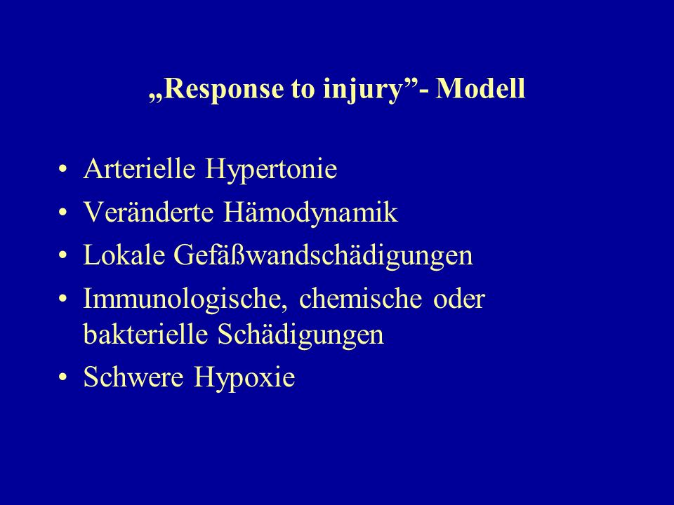 """Response to injury - Modell"