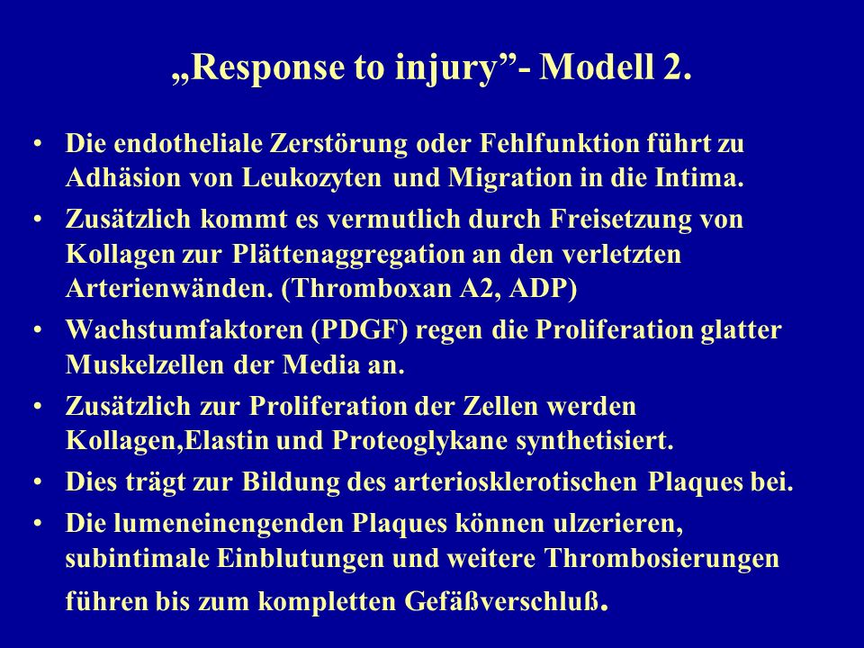 """Response to injury - Modell 2."