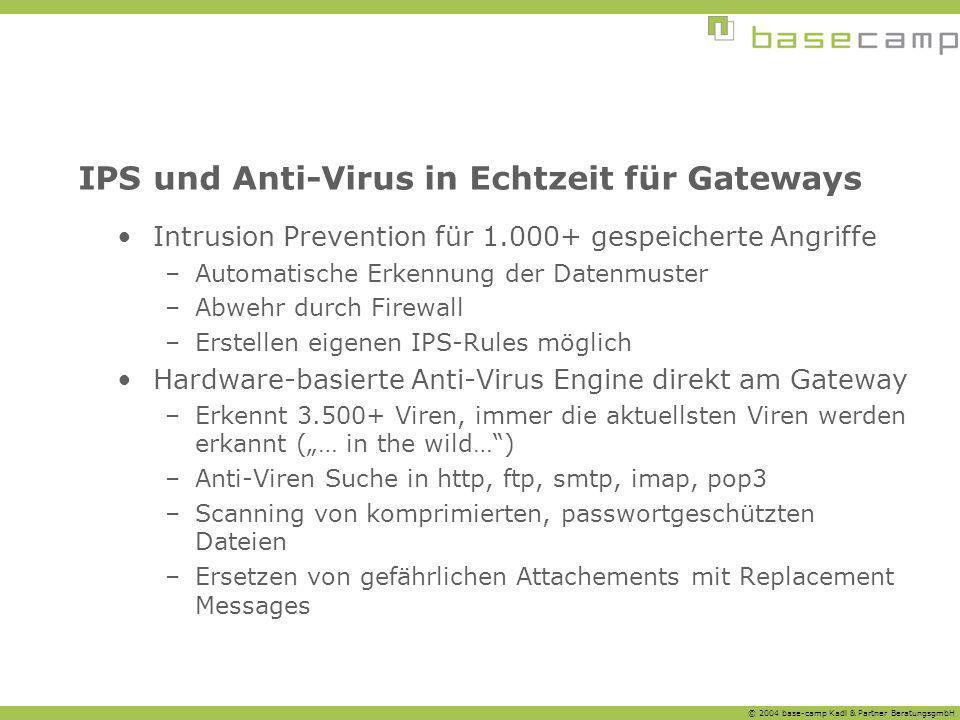 IPS und Anti-Virus in Echtzeit für Gateways