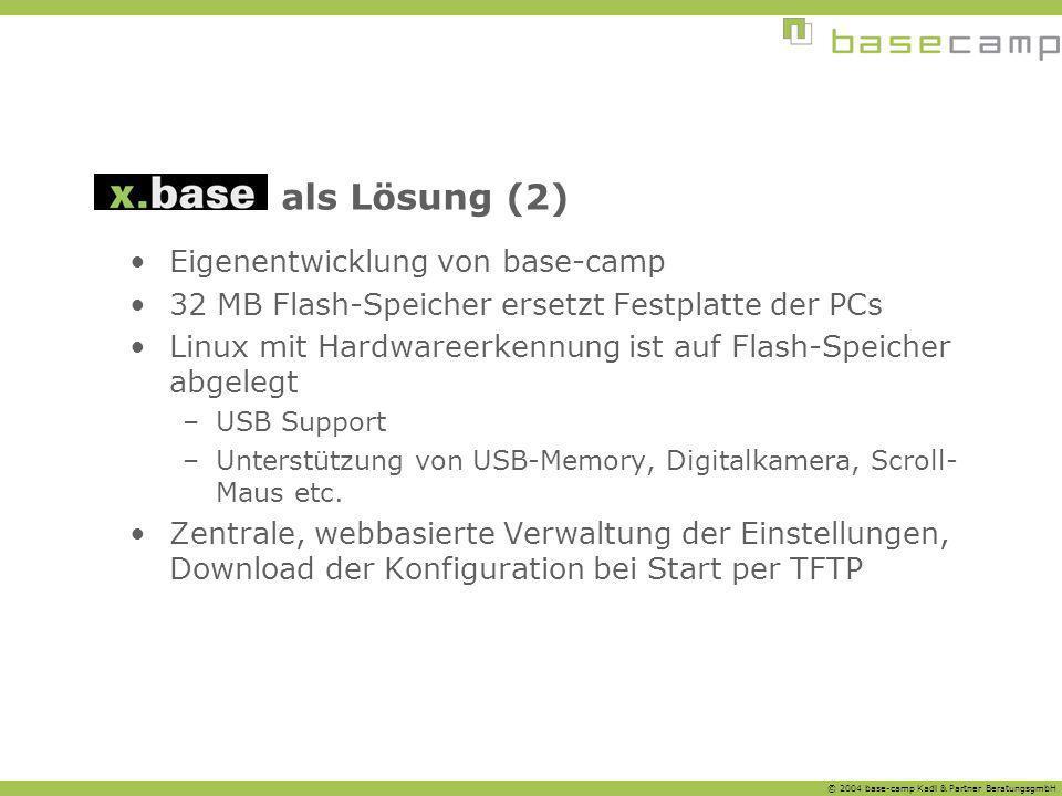 als Lösung (2) Eigenentwicklung von base-camp