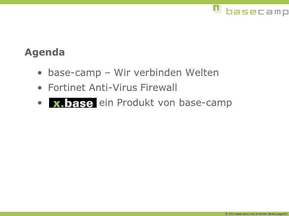 Agenda base-camp – Wir verbinden Welten Fortinet Anti-Virus Firewall ein Produkt von base-camp
