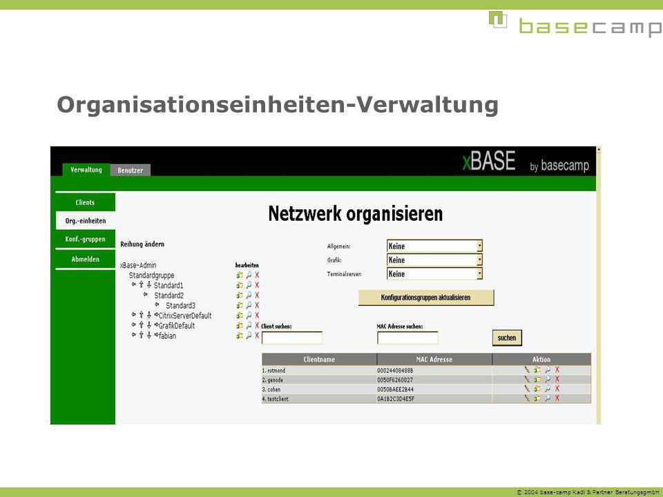 Organisationseinheiten-Verwaltung
