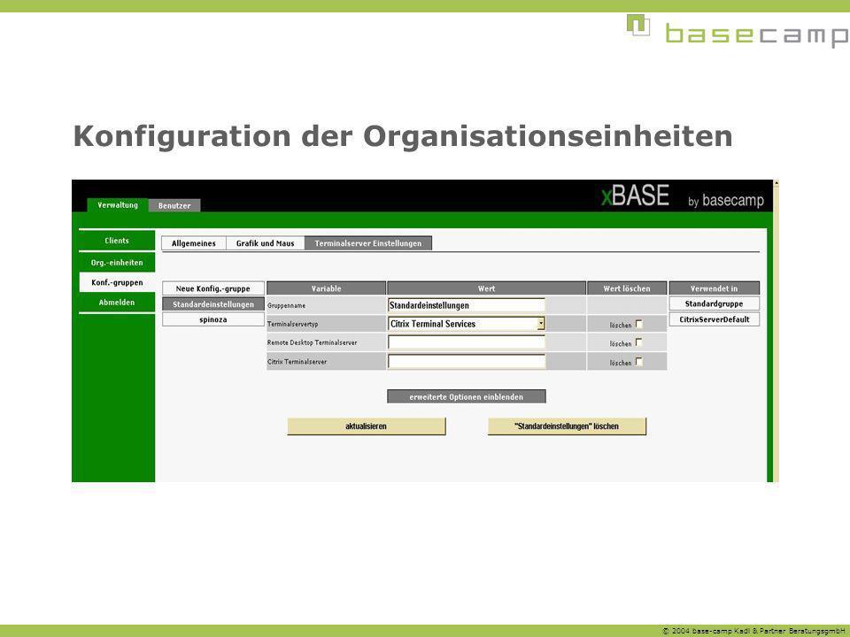 Konfiguration der Organisationseinheiten