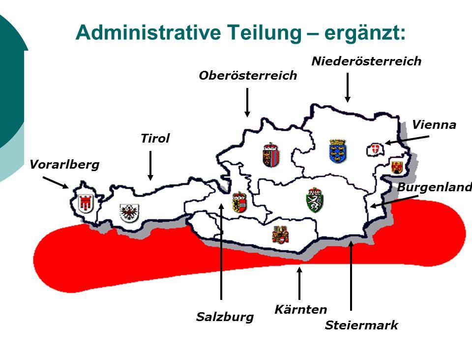 Administrative Teilung – ergänzt: