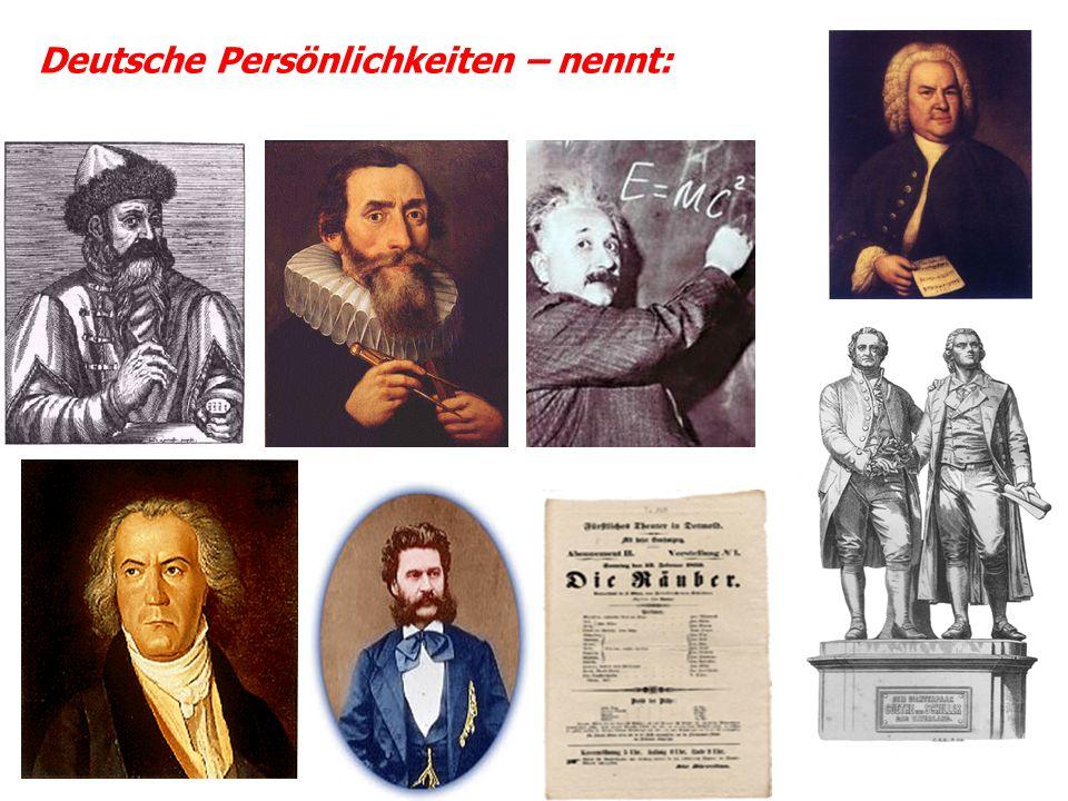 Deutsche Persönlichkeiten – nennt:
