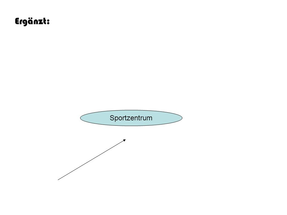 Ergänzt: Sportzentrum