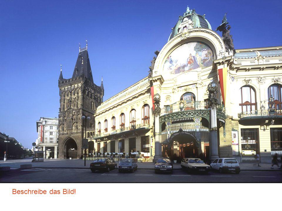 Am Graben Gemeindehaus (Repräsentationshaus) Der Pulverturm Beschreibe das Bild!