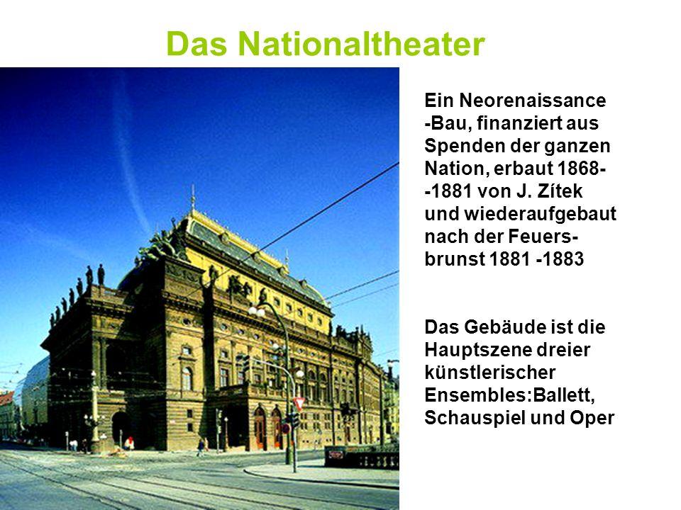 Das Nationaltheater Ein Neorenaissance -Bau, finanziert aus