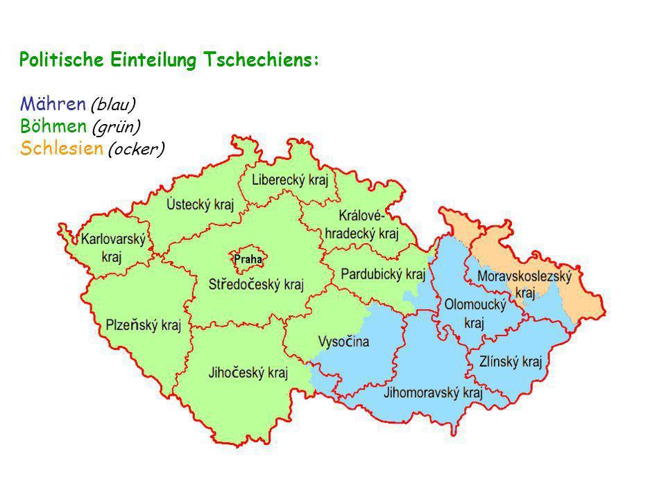 Politische Einteilung Tschechiens: