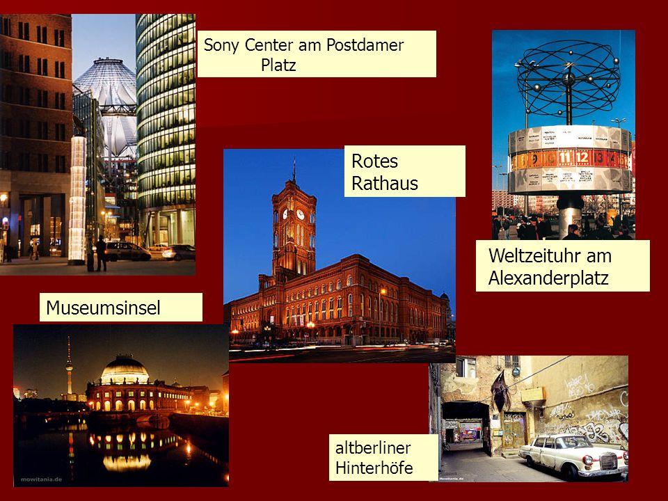 Rotes Rathaus Weltzeituhr am Alexanderplatz Museumsinsel