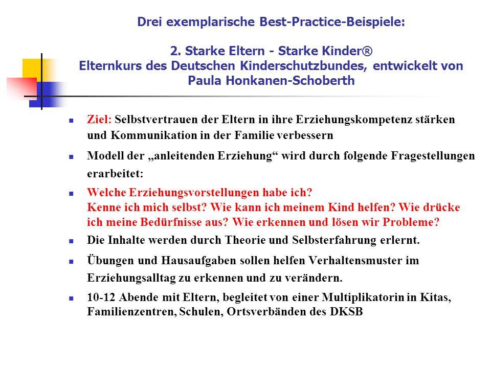 Drei exemplarische Best-Practice-Beispiele: 2