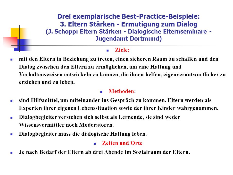 Drei exemplarische Best-Practice-Beispiele: 3