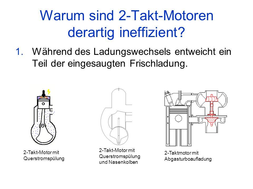 Warum sind 2-Takt-Motoren derartig ineffizient