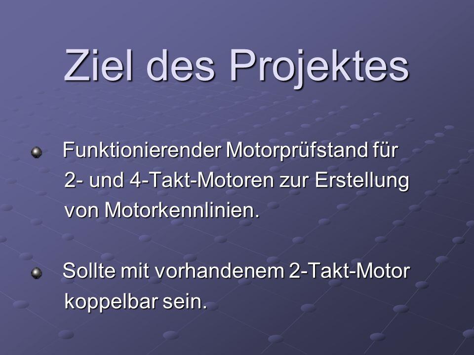 Ziel des Projektes 2- und 4-Takt-Motoren zur Erstellung