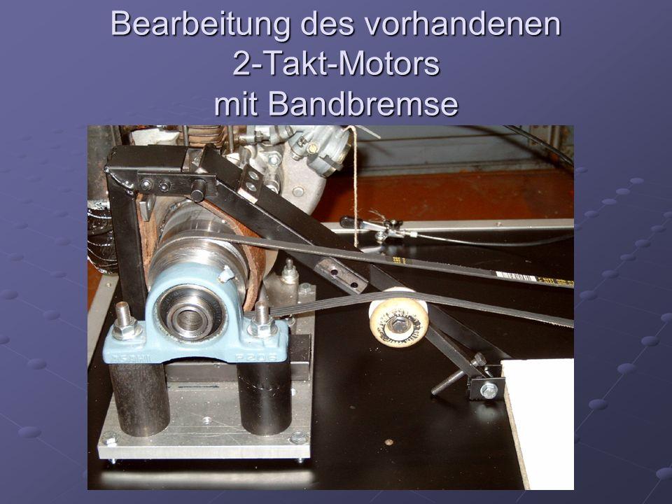 Bearbeitung des vorhandenen 2-Takt-Motors mit Bandbremse