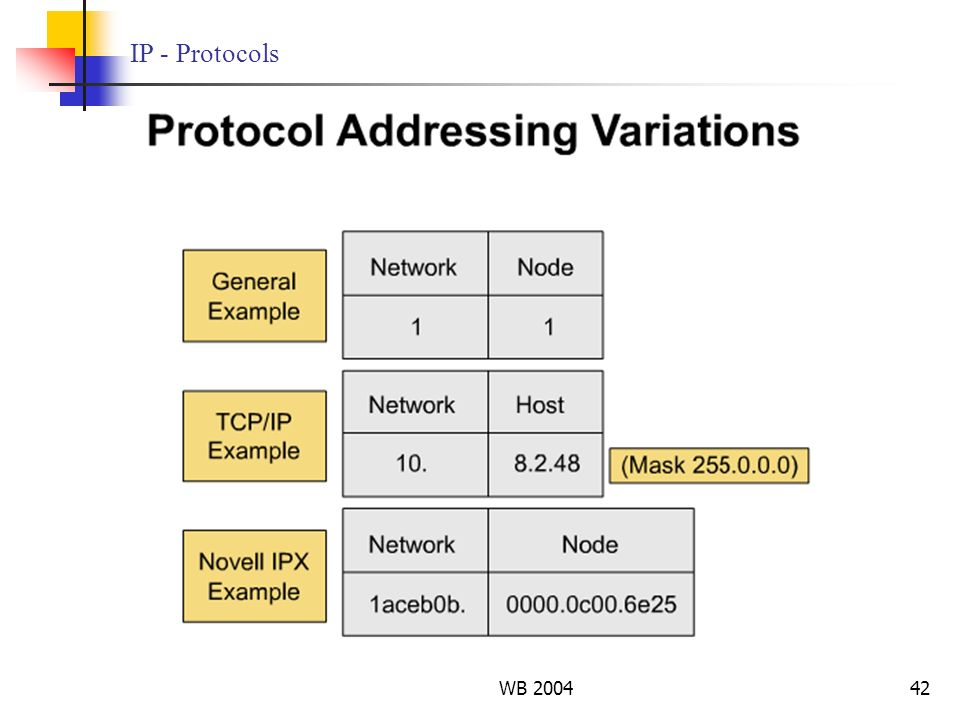IP - Protocols WB 2004