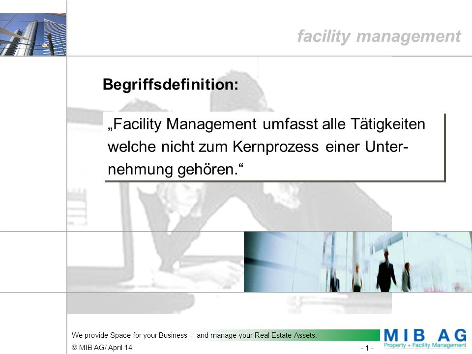 facility management Begriffsdefinition: