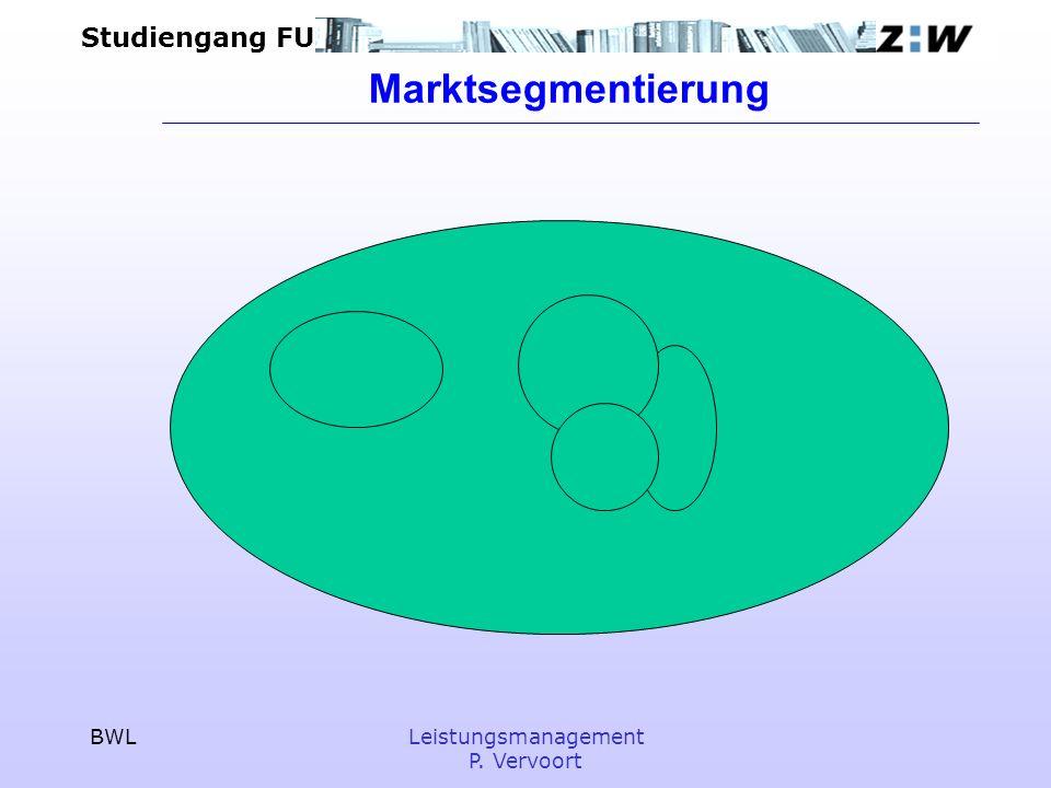 Marktsegmentierung BWL Leistungsmanagement P. Vervoort
