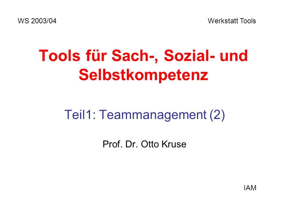 Tools für Sach-, Sozial- und Selbstkompetenz