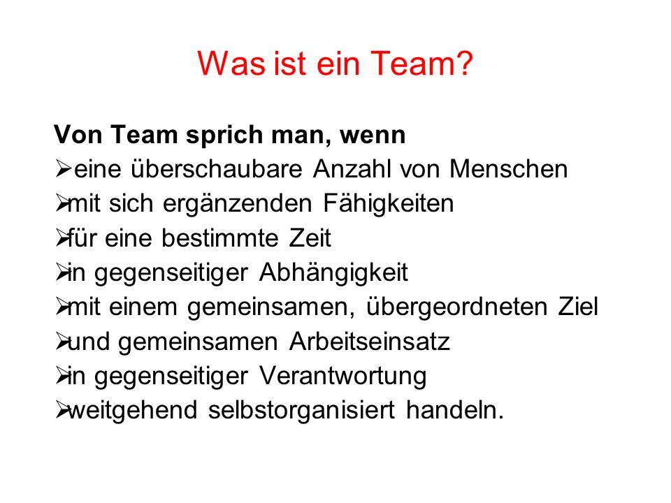 Was ist ein Team Von Team sprich man, wenn