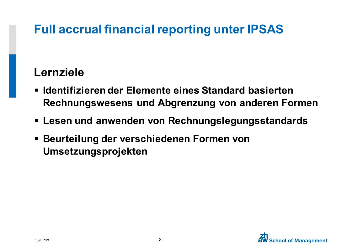 Full accrual financial reporting unter IPSAS