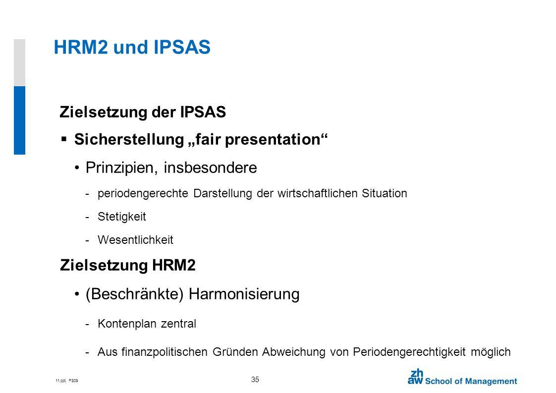HRM2 und IPSAS Zielsetzung der IPSAS
