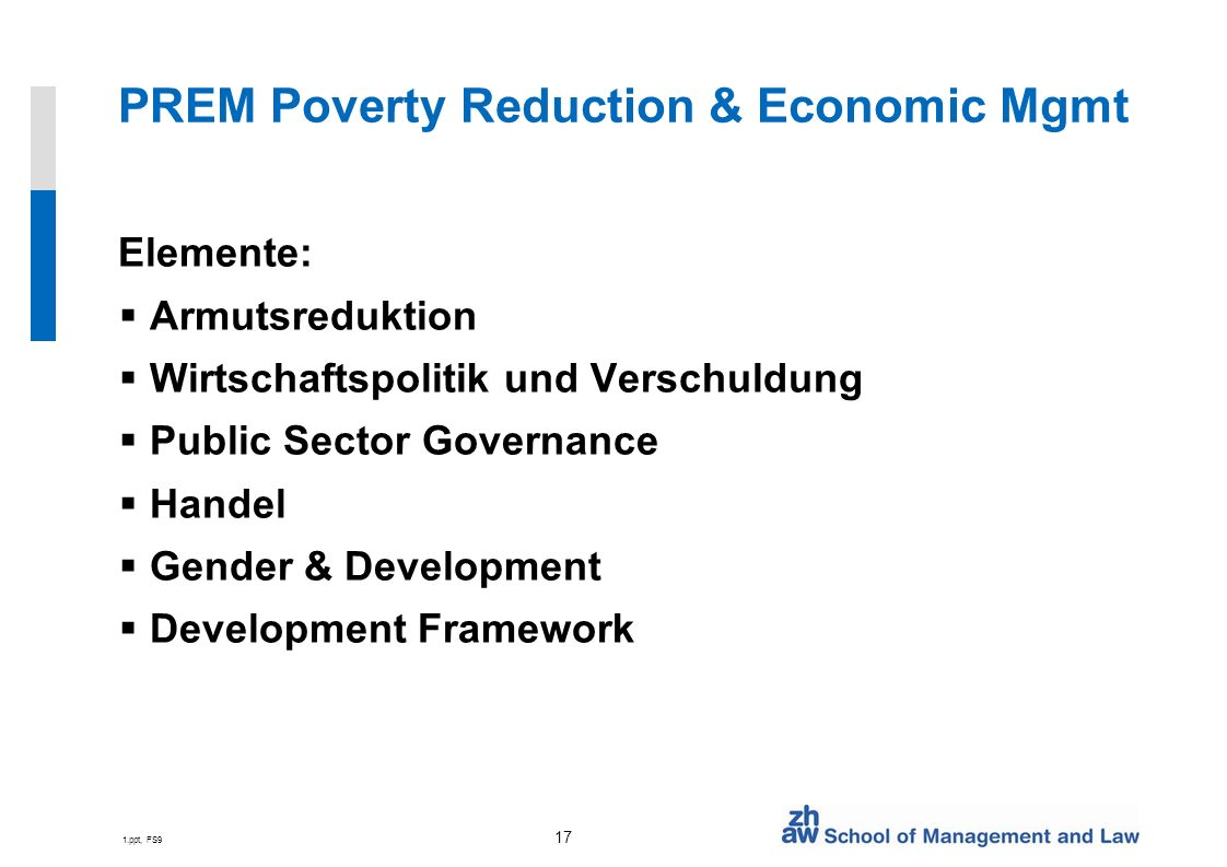 PREM Poverty Reduction & Economic Mgmt