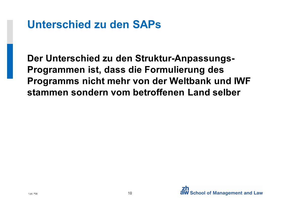 Unterschied zu den SAPs