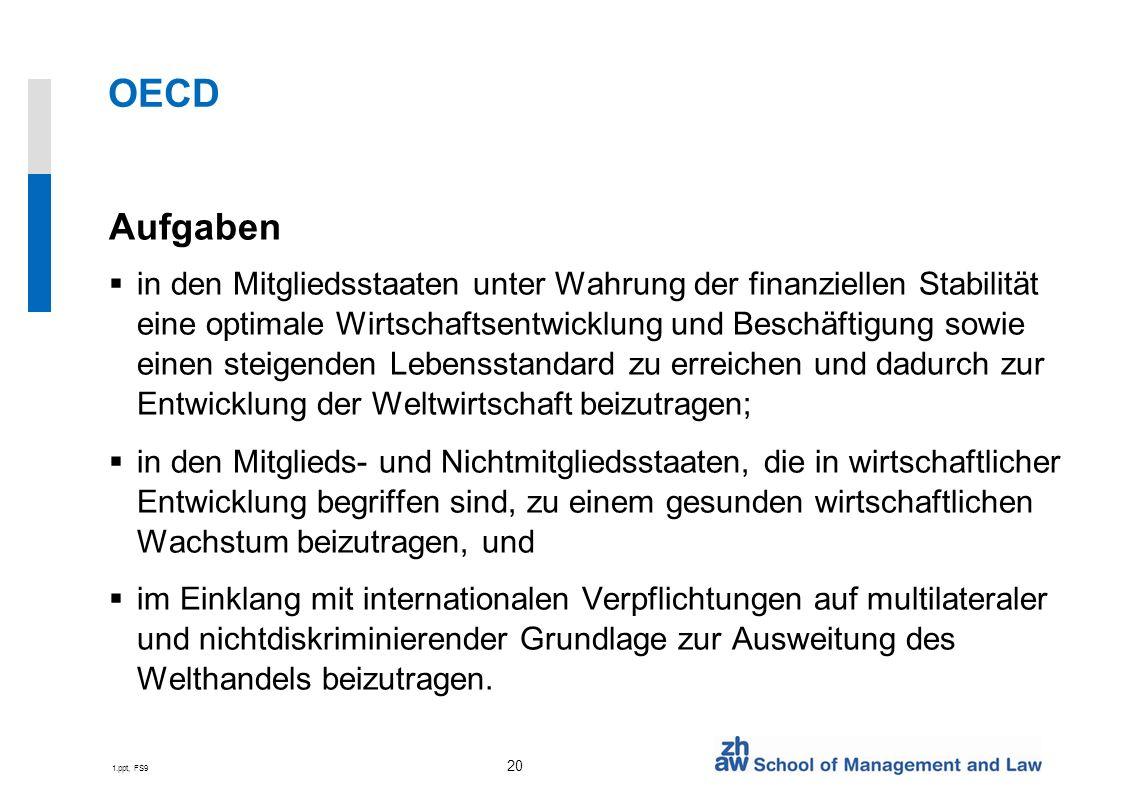 OECD Aufgaben.